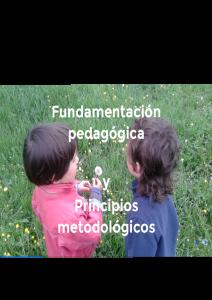 Fundamentación pedagógica y principios metodológicos