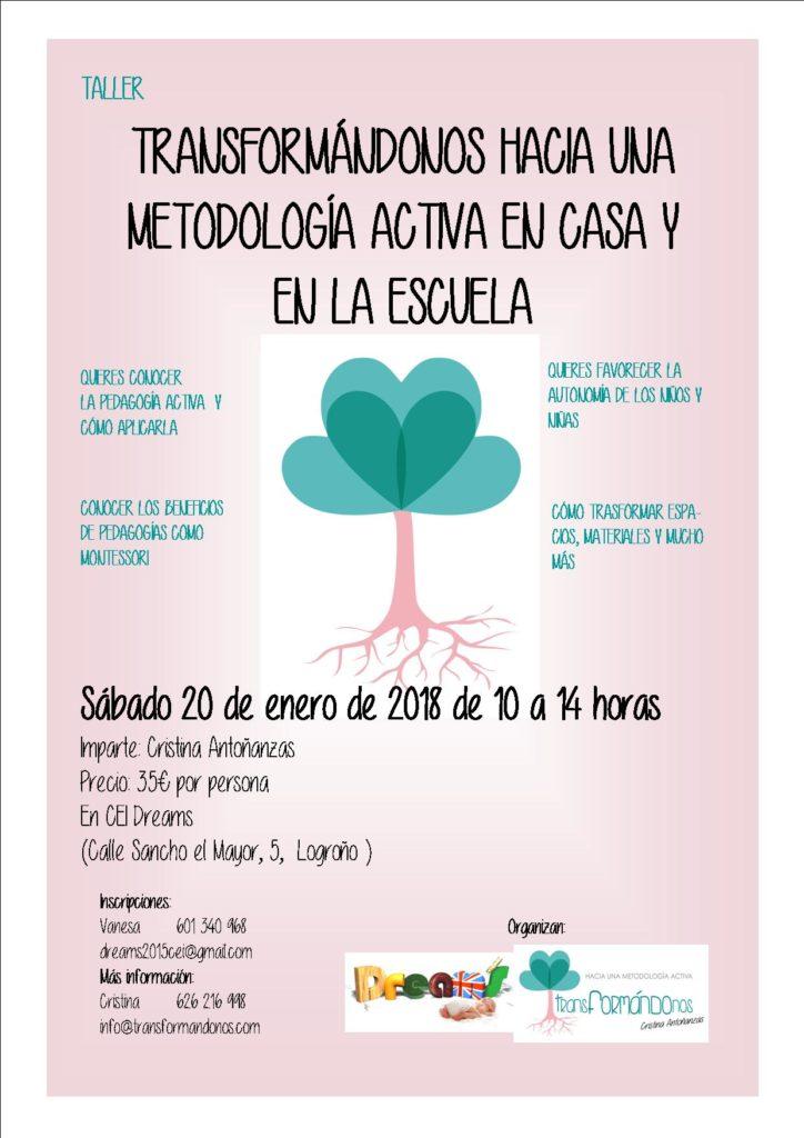 Taller: Introducción a la pedagogía activa @ Guardería y CEI Dreams
