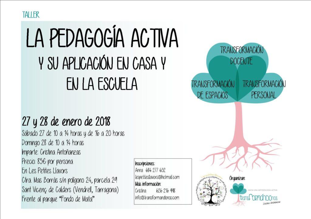 Taller: La pedagogía activa y su aplicación tanto en la escuela como en el hogar @ Les Petites Llavors